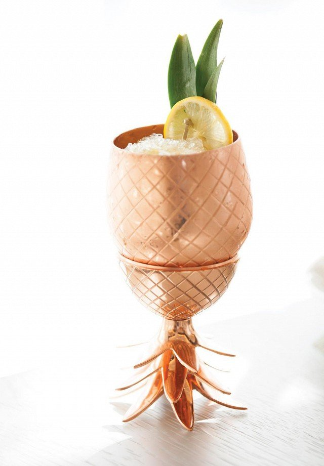 copper pineapple cocktail