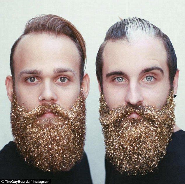 glittery beard